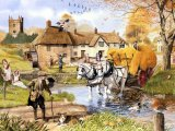 Village scene - Autumn CG001