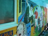 MU017 - Completed Community mural for Rhosymedre youth club