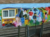 MU016 - Completed Community mural for Rhosymedre youth club