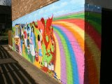 MU018 - Completed Community mural for Rhosymedre youth club