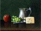 Still Life - Cheese & Grapes CG001