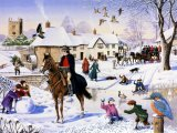 Village scene - Winter CG001